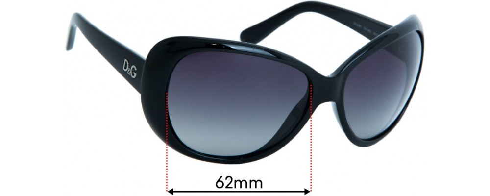 Dolce & Gabbana DD8081 Replacement Sunglass Lenses 62mm Wide