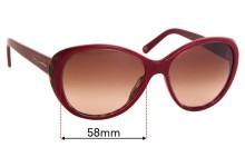 Dolce & Gabbana DG4080 Replacement Sunglass Lenses - 58mm Wide