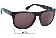 Sunglass Fix Replacement Lenses for Dolce & Gabbana DG4222 - 56mm wide
