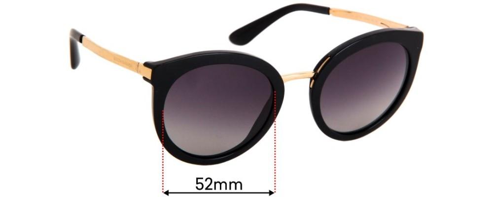 Sunglass Fix Replacement Lenses for Dolce & Gabbana DG4268 - 52mm wide