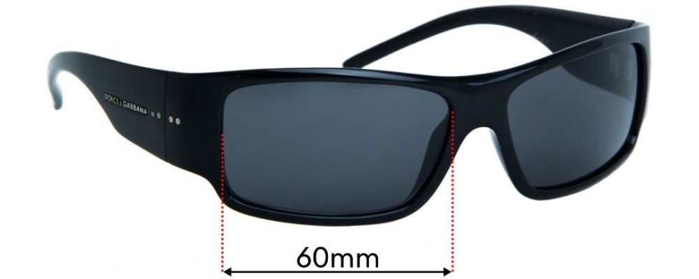 Sunglass Fix Replacement Lenses for Dolce & Gabbana Unknown Model - 60mm wide