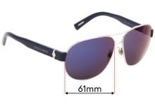 Sunglass Fix Replacement Lenses for Dolce & Gabbana DG2117 - 61mm wide