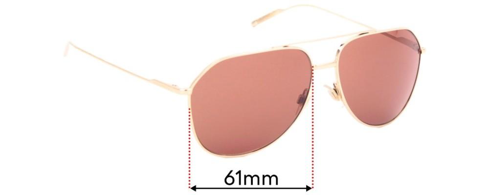Sunglass Fix Replacement Lenses for Dolce & Gabbana DG2166 - 61mm wide