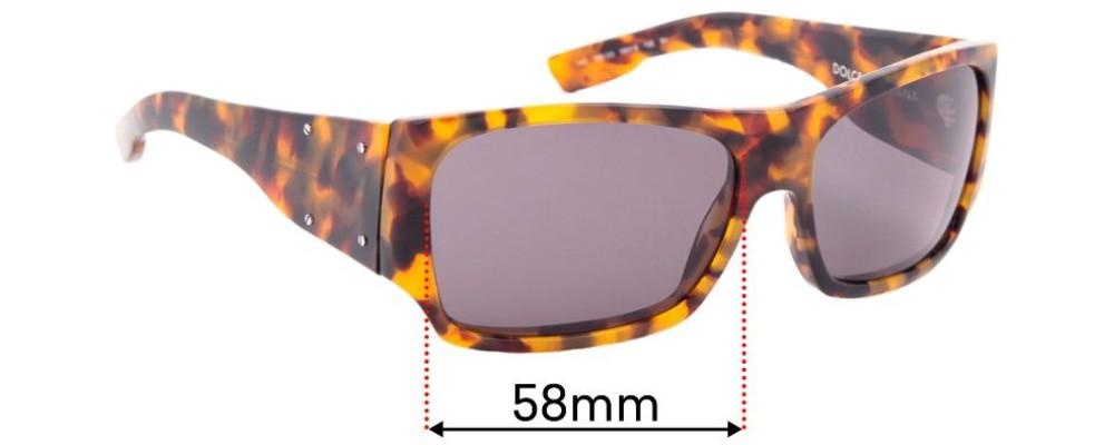 Sunglass Fix Replacement Lenses for Dolce & Gabbana DG4045 - 58mm wide