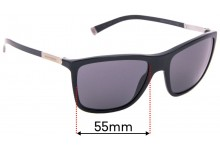 Sunglass Fix Replacement Lenses for Dolce & Gabbana DG4210 Basalto Collection - 55mm Wide