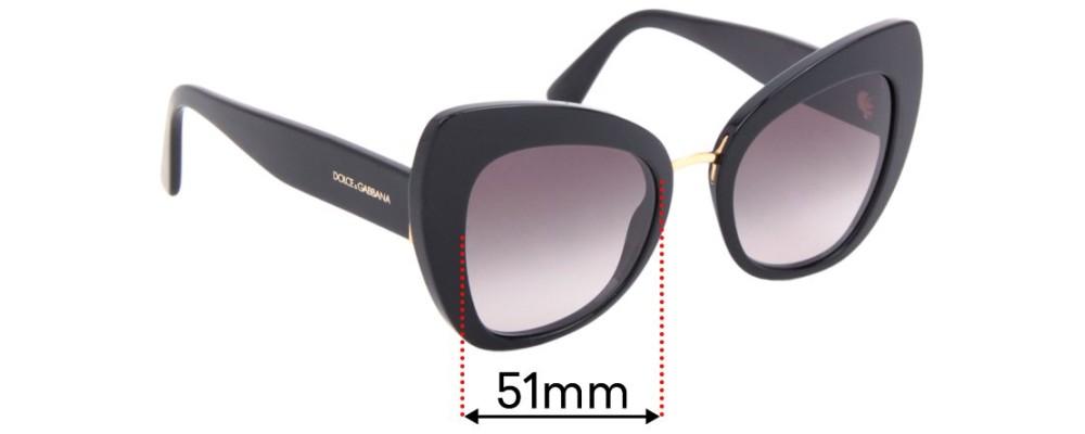 Sunglass Fix Replacement Lenses for Dolce & Gabbana DG4319 - 51mm wide