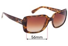 Sunglass Fix Replacement Lenses for Dolce & Gabbana DG8067 - 56mm Wide