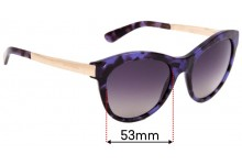 Sunglass Fix Replacement Lenses for Dolce & Gabbana DG4243 - 53mm Wide