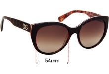 Sunglass Fix Replacement Lenses for Dolce & Gabbana DG4217 - 54mm wide