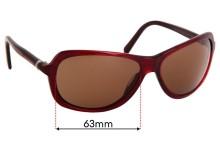 Donna Karan DK1002 Replacement Sunglass Lenses - 63mm Wide