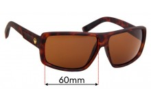 Dragon Double Dos Replacement Sunglass Lenses - 60mm wide