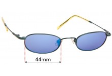 Sunglass Fix Replacement Lenses for Easytwist ET657 - 44mm wide