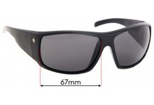 Electric Backbone Replacement Sunglass Lenses - 67mm Wide
