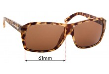 Electric Captain Ahab Replacement Sunglass Lenses - 61mm wide