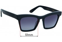 Ellery Cremaster Replacement Sunglass Lenses - 51mm Wide