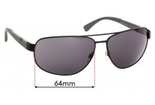 Emporio Armani  EA2036 Replacement Sunglass Lenses - 64mm Wide