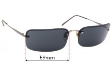 Emporio Armani 248-S Replacement Sunglass Lenses - 59mm Wide