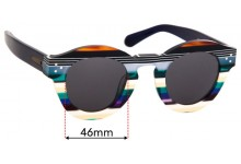 Sunglass Fix Replacement Lenses for Enki Amazonia - 46mm Wide