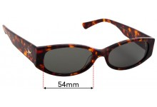 Sunglass Fix Replacement Lenses for Epokhe Machina - 54mm Wide