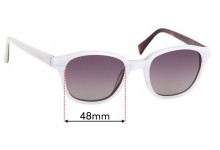 Sunglass Fix Replacement Lenses for Epokhe Ostra - 48mm Wide