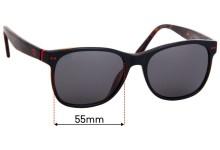 Sunglass Fix Replacement Lenses for Etnia Barcelona Leblon - 55mm Wide