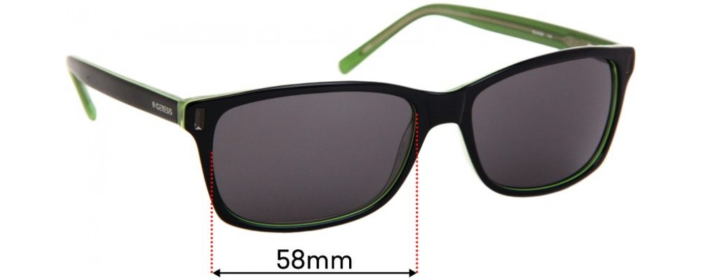 Sunglass Fix Replacement Lenses for Genesis Gdansk - 58mm wide