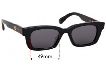 Gentle Monster Jennie Replacement Sunglass Lenses - 49mm Wide