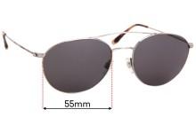 Sunglass Fix Replacement Lenses for Giorgio Armani Unknown - 55m Wide x 47mm High