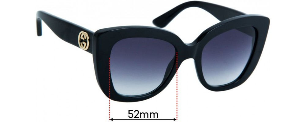 Sunglass Fix Replacement Lenses for Gucci GG0327S - 52mm Wide