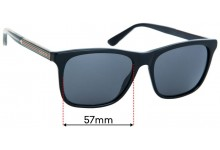 Replacement Lenses for Gucci GG0381/S - 57mm Wide