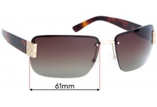 Gucci GG1798 Replacement Sunglass Lenses - 61mm wide