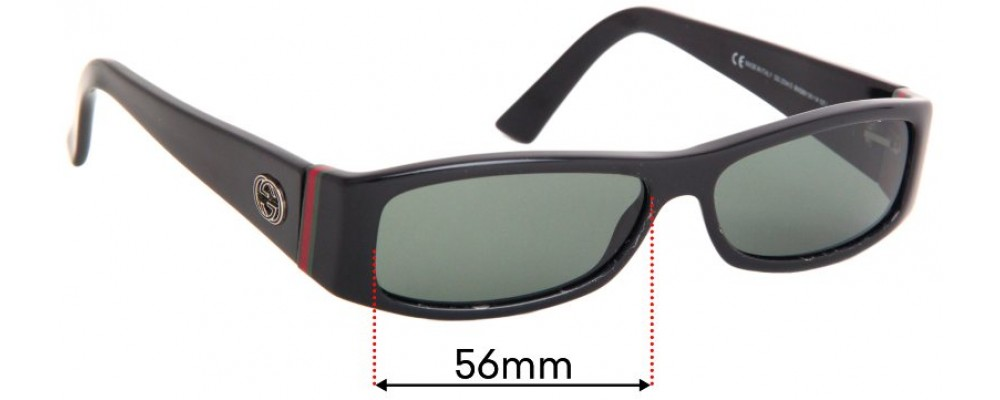 Sunglass Fix Replacement Lenses for Gucci GG 2594/S - 56mm