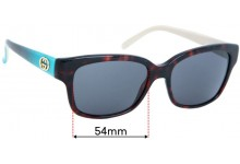 Sunglass Fix Replacement Lenses for Gucci GG3615/S - 54mm wide