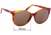 Sunglass Fix Replacement Lenses for Gucci GG3833/F/S - 57mm wide