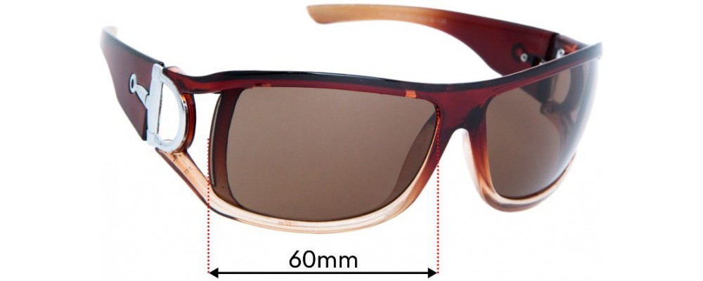 Gucci MOD SL8345 Replacement Sunglass Lenses - 60mm wide