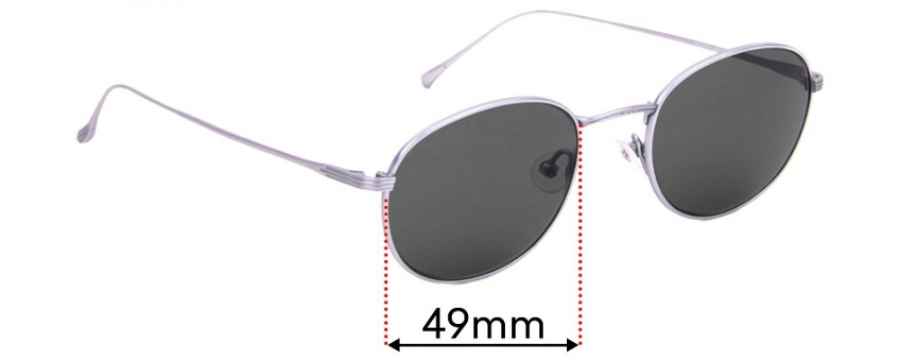 Sunglass Fix Replacement Lenses for Heiva HE0689 - 49mm wide