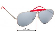 Sunglass Fix Replacement Lenses for Iceberg IC51106 - 62mm wide