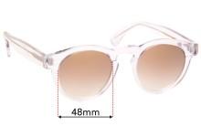 Sunglass Fix Replacement Lenses for Illesteva Leonard - 48mm Wide