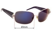 Sunglass Fix Replacement Lenses for John Richmond JR64804 - 61mm wide