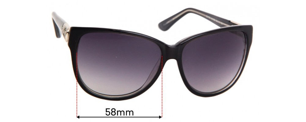 Just Cavalli JC415S Replacement Lenses 58mm Wide