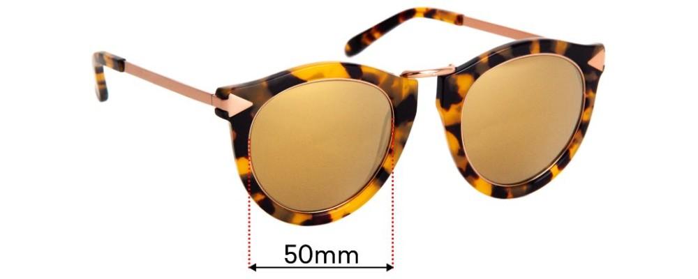 Sunglass Fix Replacement Lenses for Karen Walker Harvest Superstars - 50mm Wide