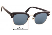 Sunglass Fix Replacement Lenses for Kate Kate Wood Ibiza - 48mm Wide