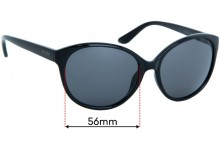Sunglass Fix Replacement Lenses for Kenneth Cole Reaction KC1283 - 56mm Wide