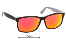 Sunglass Fix Replacement Lenses for Lacoste L705S - 57mm Wide