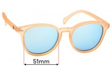 Sunglass Fix Replacement Lenses for Le Specs Bandwagon - 51mm Wide