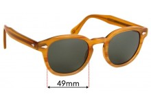 Moscot / Originals Lemtosh Replacement Sunglass Lenses - 49mm wide