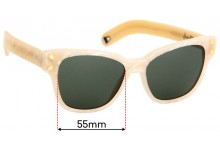Sunglass Fix Replacement Lenses for Lucy Folk Diving For Gold - 55mm wide