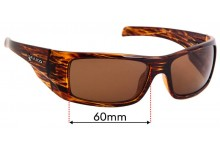 Sunglass Fix Replacement Lenses for Mako Invincible 9577 - 60mm Wide
