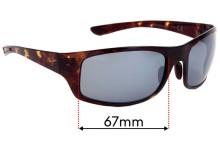 Sunglass Fix Replacement Lenses for Maui Jim MJ440 Big Wave - 67mm Wide