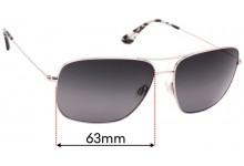 Sunglass Fix Replacement Lenses for Maui Jim Cook Pines MJ774 - 63mm wide